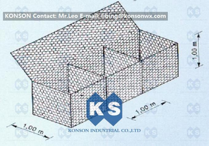 Hexagonal Wire Mesh Gabion Boxes For Protect The Falling Rocks
