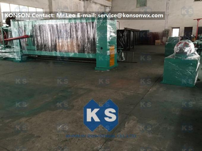 4300mm Stone Cage Hexagonal Wire Mesh Machine , Gabion Baskets / Fence Making Equipment