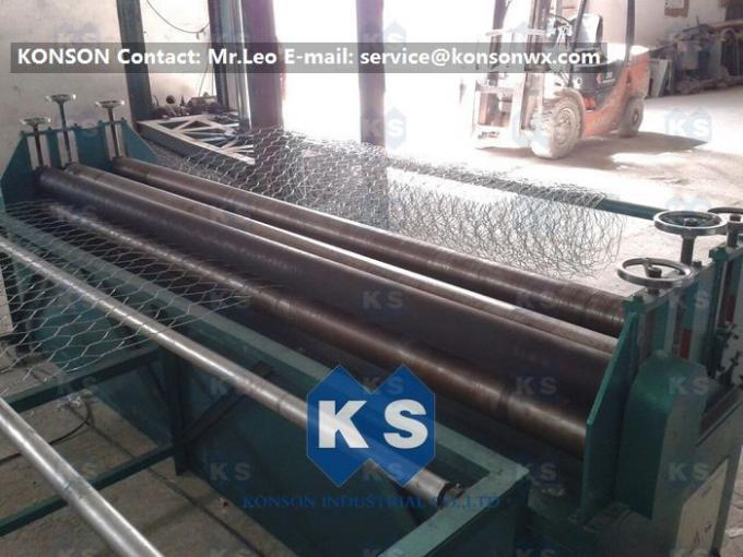 Professional Hexagonal Wire Mesh Machine Netting Straigntening And Cutting Machine
