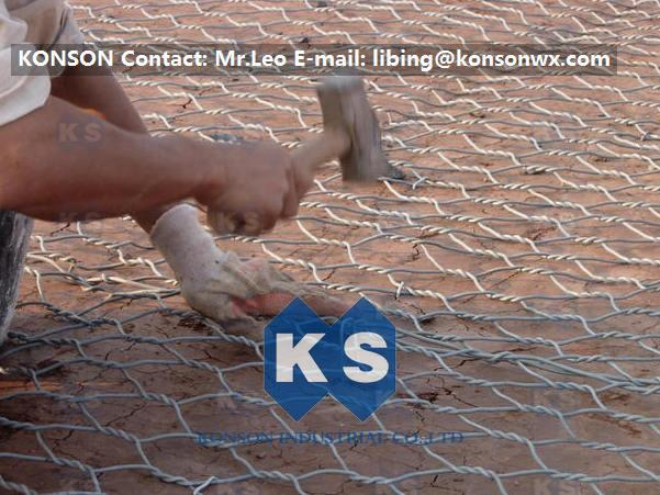 Hexagonal Hot Dipped Zinc Galvanised Wire Mesh Gabion / Outdoor Wire Mesh Fence