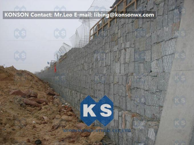 Heavy Zinc 1mm Hexagonal PVC Coated Wire Mesh Gabion Cages Fence