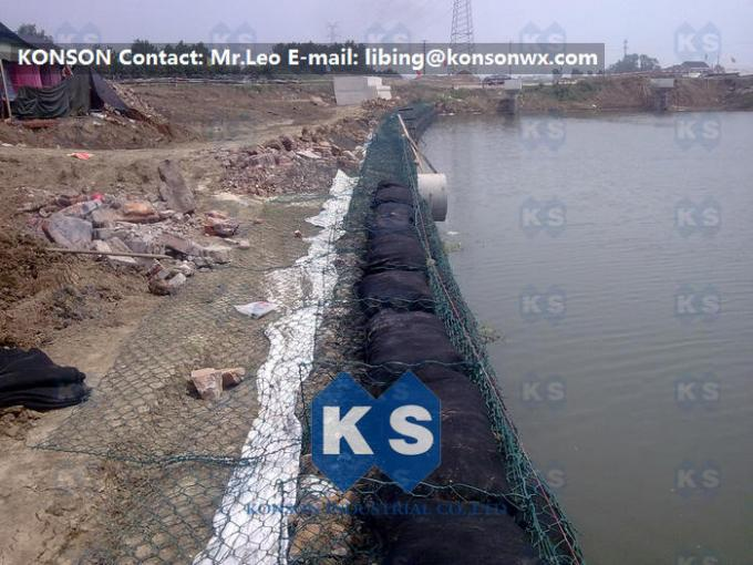 Wire Mesh Fence PVC Gabions With Stainless Steel Wire Plastic Coated Hexagonal Mesh