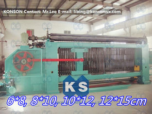 China Galvanized / PVC Coated Wire Gabion Box Machine With Wrapped Edge Machine supplier