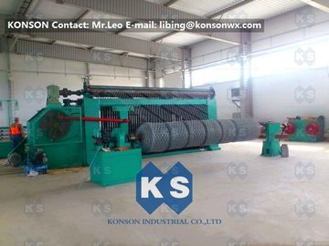 China High Speed Automated Gabion Machine Hexagonal Wire Mesh Production Line 4300mm supplier