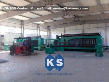 China Twisting Metal Wire Hexagonal Gabion Mesh Weaving Machine , 4300mm Double Rack Drive supplier