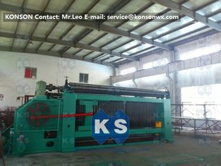 China Galvanised Wire Mesh Wire Coiling Wire Netting Gabion Box Mesh Machine With CE supplier