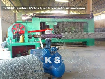 Automatic Gabion Box Machine Making Hexagonal Fence With Automatic Stop System