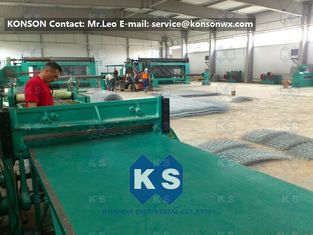 China Hexagonal Gabion Production Line Double Rack Heavy Duty Hexagonal Mesh Machine supplier