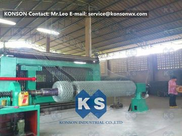 China Twisting Metal Wire Hexagonal Mesh Machine for 80 x 100mm Mesh Size Gabion supplier