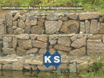 China Galvanized / Galfan / PVC Welded Gabion Basket , Gabion Cages for Rock Retaining Wall supplier