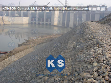 China Mesh Fencing Retaining Wall Gabion Wire Basket 80mm x 100mm For Coastal Protection supplier