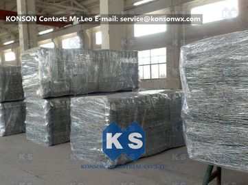 China Heavy Zinc Galvanised Gabion Basket With Straight / Reverse Twisted Galfan Coated Wire supplier