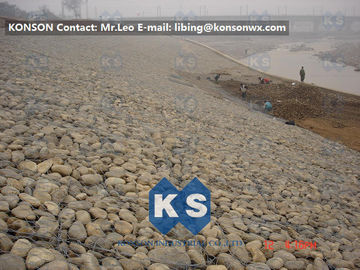 China Large Gabion Stone Cage Retaining Wall Guide Gabion Mattresses In Road Building supplier