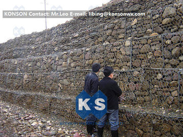 China Professional Welded Wire Mesh Gabion Box Galfan Galvanised 75mm x 75mm Gabion Fence supplier