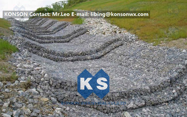 China Water And Soil Erosion Preventing Gabion Boxes With Hexagonal Wire Mesh supplier