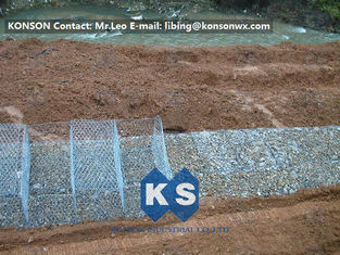 China Stainless Steel Galvanized Hexagonal Wire Mesh Gabion Boxes , 0.5mm Thick PVC Coated supplier
