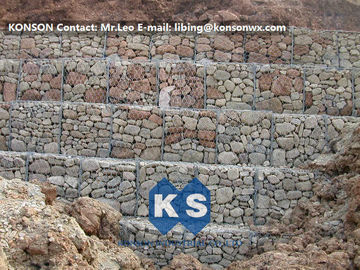 China Hexagonal Wire Mesh Gabion Retaining Wall with Polyethylene PE Coated Gabion Wire supplier