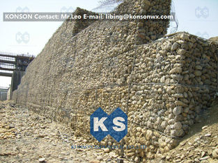 China Galvanized Gabion Box Retaining Walls / Gabion Stone Basket Fence supplier