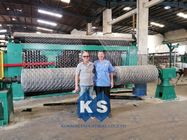 PLC Automatic Control Gabion Mesh Machine KS80100-4.0 Stone Cage Isolation Wall
