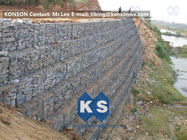 China Defense Gabion Retaining Wall Hexagonal Wire Mesh with Galvanized Wire 2.7MM factory