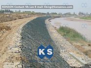 China Large Stone Gabion Boxes / Gabions And Mattresses 80mm x 100mm 2.7mm Wire Dia company