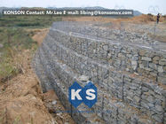 China Galvanized Wire Gabion Retaining Walls Plastic or Stainless Steel Wire PE Coating Gabion Mattress factory