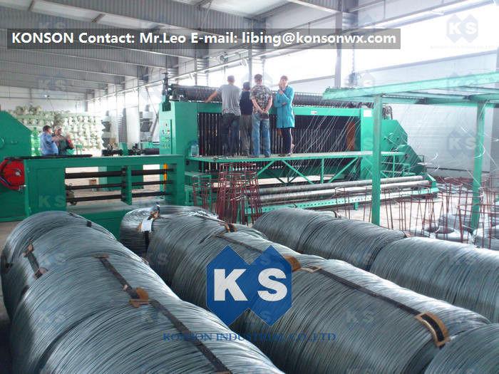 22Kw High Efficiency Gabion Box Machine With 4.9mm PVC Wire ...
