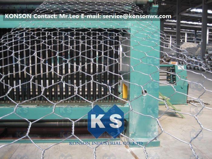 Automatic Hexagonal Wire Netting Production Line Heavy Duty Gabion ...