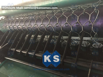 Custom OEM Gabion Box Machine / Galvanized Iron Hexagonal Wire Mesh Machine