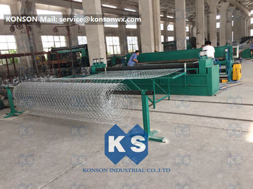 Hexagonal Gabion Box Machine Galvanized Galfan Or PVC Coated Wire Mesh 80×100mm