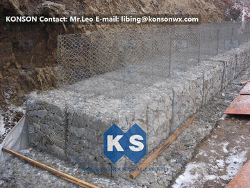Hot Dip Galvanized Gabion Mesh Hexagonal Polyethylene Coated Wire Gabion Fence