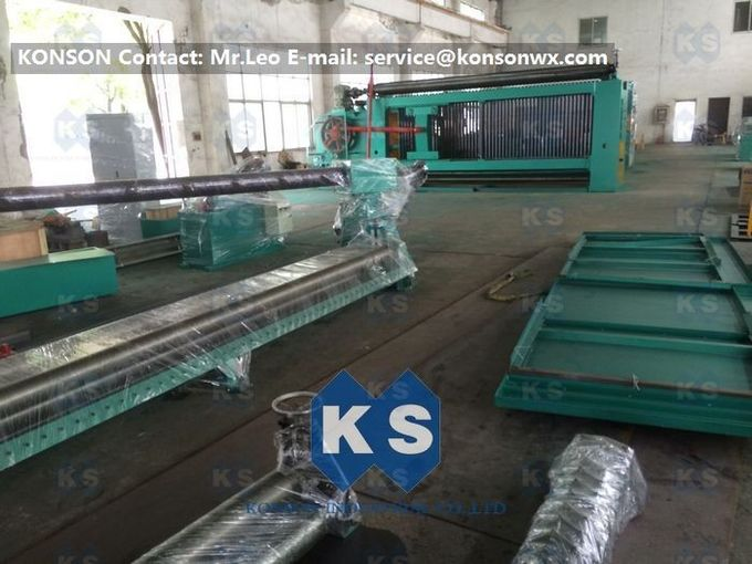 Customized High Efficiency Gabion Box Machine With PLC 100 * 120mm Mesh Size