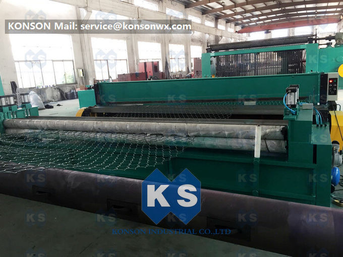 Automatic Oil System Gabion Wire Mesh Machine Overload Protect Clutch High Efficiency