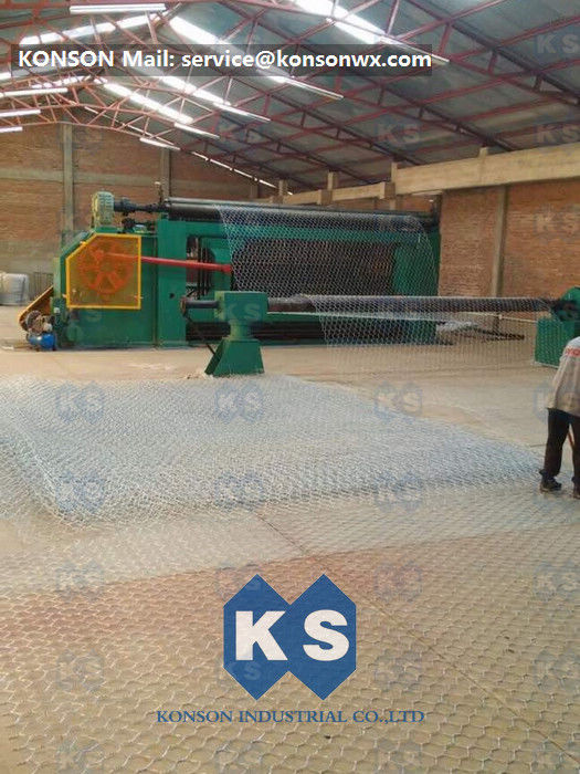 Turbine Protection System Wire Mesh Machine Galvanized / PVC Coated Wire 4300mm Width